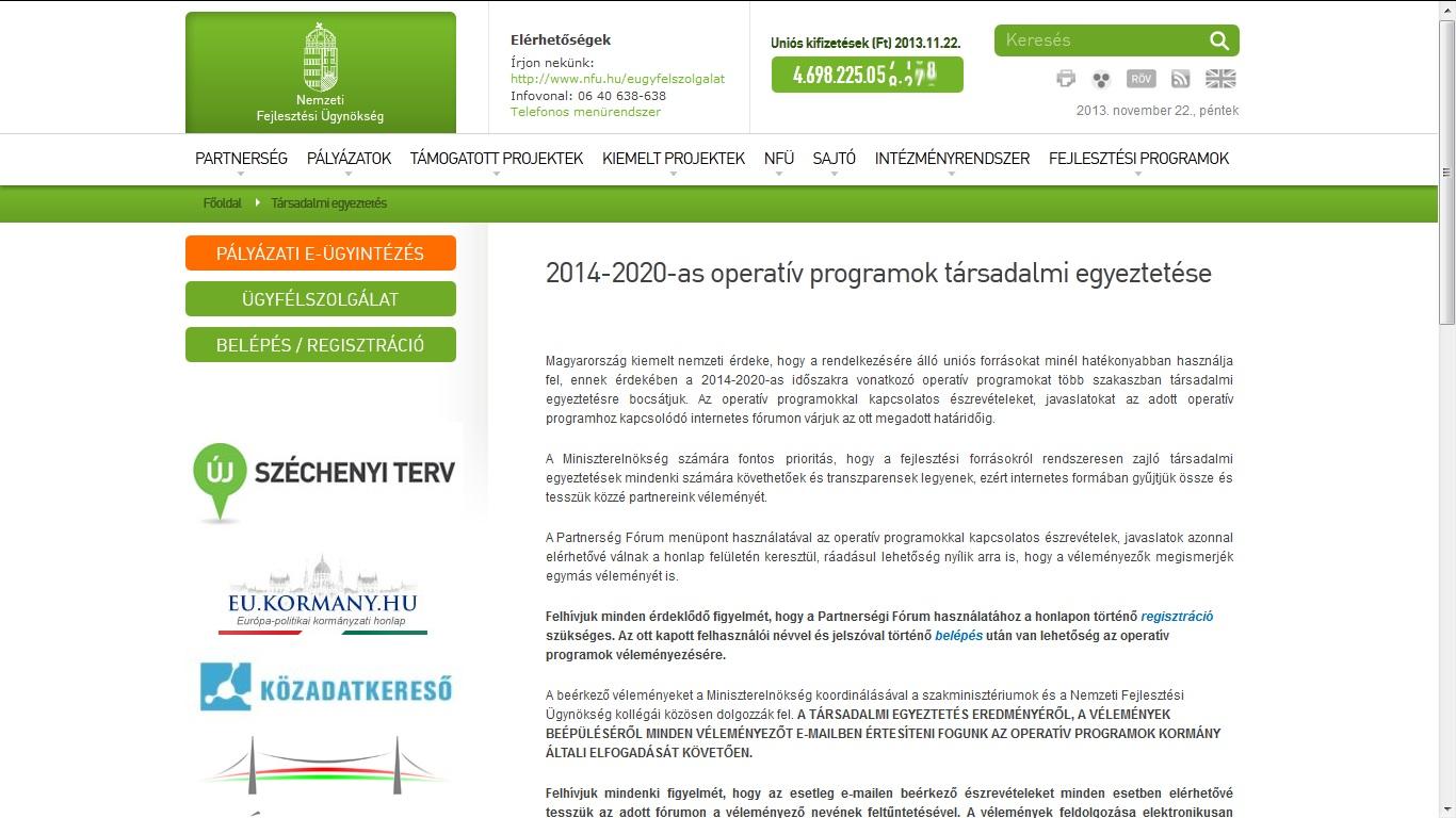 Új operatív programok
